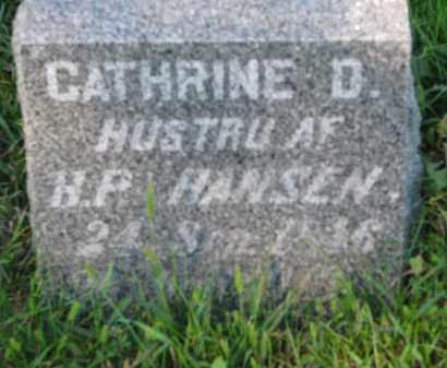 HANSEN, CATHRINE D. - Turner County, South Dakota | CATHRINE D. HANSEN - South Dakota Gravestone Photos