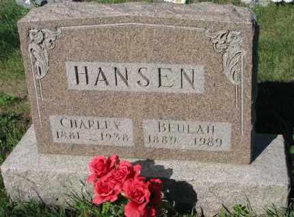 HANSEN, CHARLEY - Turner County, South Dakota | CHARLEY HANSEN - South Dakota Gravestone Photos