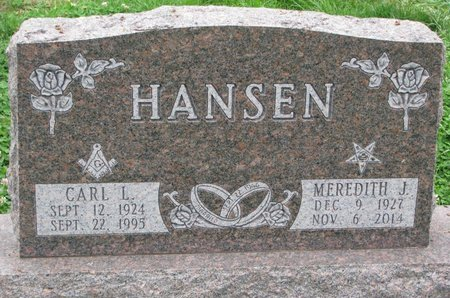 HANSEN, MEREDITH J. - Turner County, South Dakota   MEREDITH J. HANSEN - South Dakota Gravestone Photos