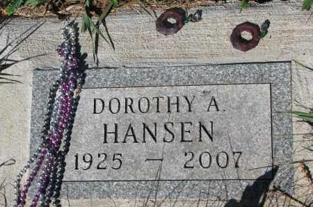 HANSEN, DOROTHY A. - Turner County, South Dakota | DOROTHY A. HANSEN - South Dakota Gravestone Photos