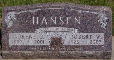 HANSEN, ROBERT W - Turner County, South Dakota   ROBERT W HANSEN - South Dakota Gravestone Photos