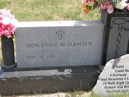 HANSEN, DORATHY M. - Turner County, South Dakota   DORATHY M. HANSEN - South Dakota Gravestone Photos