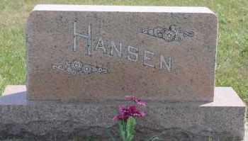 HANSEN, FAMILY MARKER - Turner County, South Dakota   FAMILY MARKER HANSEN - South Dakota Gravestone Photos