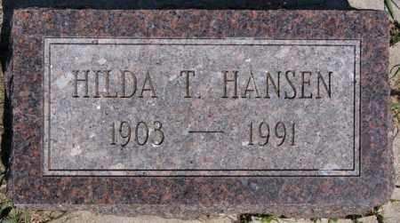 HANSEN, HILDA T - Turner County, South Dakota | HILDA T HANSEN - South Dakota Gravestone Photos