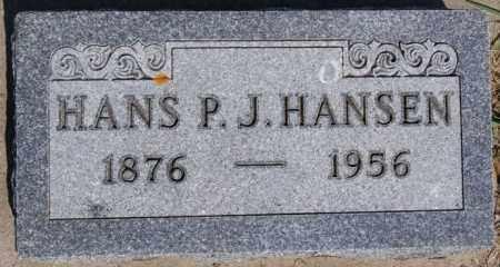 HANSEN, HANS P J - Turner County, South Dakota | HANS P J HANSEN - South Dakota Gravestone Photos