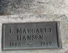 HANSEN, J MARGARET - Turner County, South Dakota   J MARGARET HANSEN - South Dakota Gravestone Photos