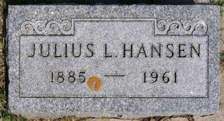 HANSEN, JULIUS L - Turner County, South Dakota | JULIUS L HANSEN - South Dakota Gravestone Photos