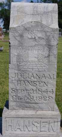 HANSEN, JULIANA M - Turner County, South Dakota | JULIANA M HANSEN - South Dakota Gravestone Photos