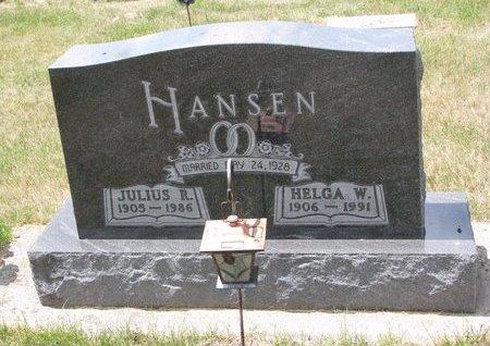 HANSEN, HELGA W. - Turner County, South Dakota | HELGA W. HANSEN - South Dakota Gravestone Photos