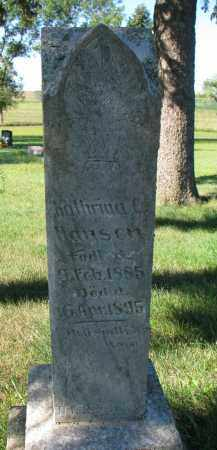 HANSEN, KATHRINA C. - Turner County, South Dakota   KATHRINA C. HANSEN - South Dakota Gravestone Photos
