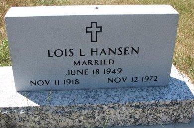 HANSEN, LOIS L. - Turner County, South Dakota   LOIS L. HANSEN - South Dakota Gravestone Photos