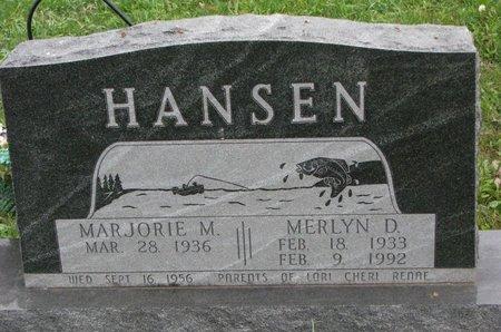 HANSEN, MERLYN D. - Turner County, South Dakota | MERLYN D. HANSEN - South Dakota Gravestone Photos