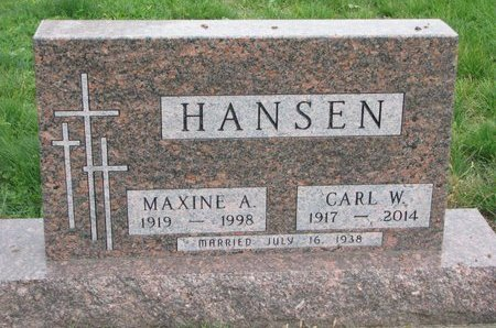 HANSEN, CARL W. - Turner County, South Dakota | CARL W. HANSEN - South Dakota Gravestone Photos