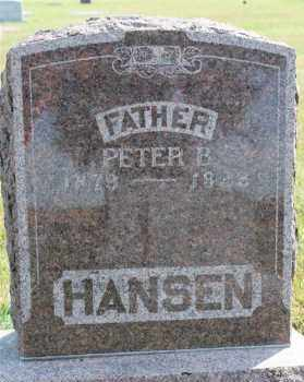 HANSEN, PETER B - Turner County, South Dakota   PETER B HANSEN - South Dakota Gravestone Photos