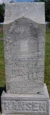 HANSEN, PEDER - Turner County, South Dakota   PEDER HANSEN - South Dakota Gravestone Photos