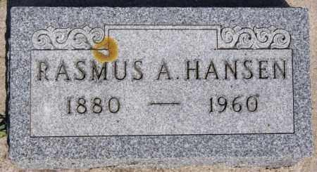 HANSEN, RASMUS A - Turner County, South Dakota   RASMUS A HANSEN - South Dakota Gravestone Photos
