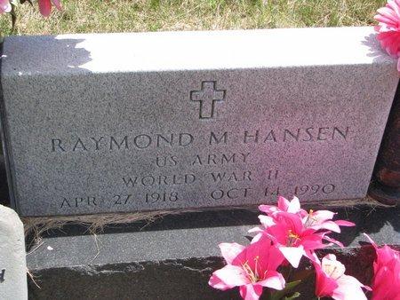 HANSEN, RAYMOND M. - Turner County, South Dakota   RAYMOND M. HANSEN - South Dakota Gravestone Photos