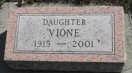 HANSEN, VIONE - Turner County, South Dakota   VIONE HANSEN - South Dakota Gravestone Photos