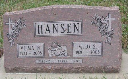 HANSEN, MILO S. - Turner County, South Dakota | MILO S. HANSEN - South Dakota Gravestone Photos
