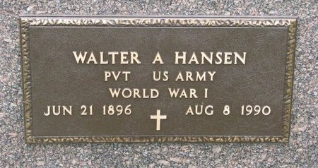 HANSEN, WALTER A. (MILITARY) - Turner County, South Dakota   WALTER A. (MILITARY) HANSEN - South Dakota Gravestone Photos