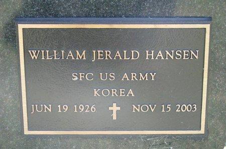 HANSEN, WILLIAM JERALD - Turner County, South Dakota | WILLIAM JERALD HANSEN - South Dakota Gravestone Photos