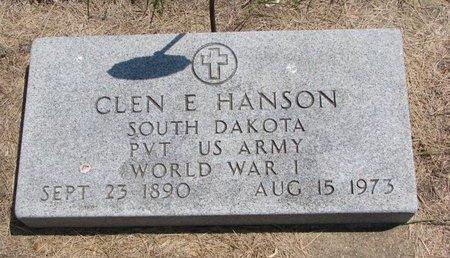 HANSON, GLEN E. - Turner County, South Dakota | GLEN E. HANSON - South Dakota Gravestone Photos