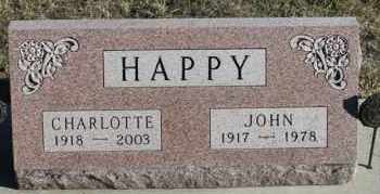 HAPPY, JOHN - Turner County, South Dakota | JOHN HAPPY - South Dakota Gravestone Photos