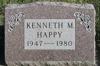 HAPPY, KENNETH M - Turner County, South Dakota | KENNETH M HAPPY - South Dakota Gravestone Photos