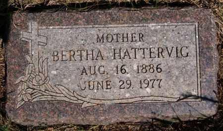 HATTERVIG, BERTHA - Turner County, South Dakota | BERTHA HATTERVIG - South Dakota Gravestone Photos