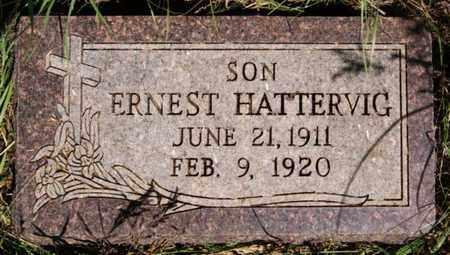 HATTERVIG, ERNEST - Turner County, South Dakota   ERNEST HATTERVIG - South Dakota Gravestone Photos