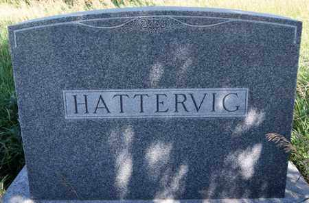 HATTERVIG, FAMILY MARKER - Turner County, South Dakota | FAMILY MARKER HATTERVIG - South Dakota Gravestone Photos