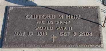 HEIM, CLIFFORD M (WWII) - Turner County, South Dakota | CLIFFORD M (WWII) HEIM - South Dakota Gravestone Photos