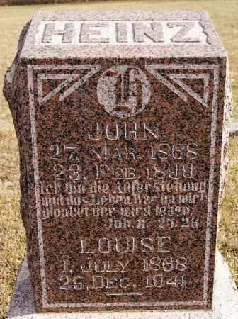 HEINZ, JOHN - Turner County, South Dakota   JOHN HEINZ - South Dakota Gravestone Photos