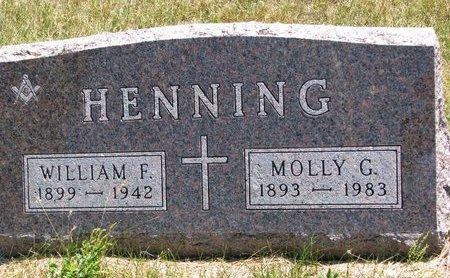 HENNING, WILLIAM F. - Turner County, South Dakota   WILLIAM F. HENNING - South Dakota Gravestone Photos