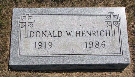 HENRICH, DONALD W. - Turner County, South Dakota | DONALD W. HENRICH - South Dakota Gravestone Photos