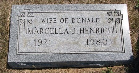 HENRICH, MARCELLA J. - Turner County, South Dakota | MARCELLA J. HENRICH - South Dakota Gravestone Photos