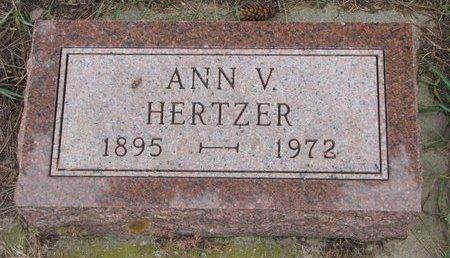 HERTZER, ANN VELMA - Turner County, South Dakota | ANN VELMA HERTZER - South Dakota Gravestone Photos