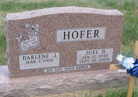 HOFER, DARLENE J. - Turner County, South Dakota | DARLENE J. HOFER - South Dakota Gravestone Photos