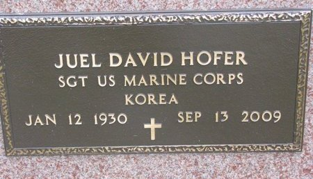 HOFER, JUEL DAVID (MILITARY) - Turner County, South Dakota | JUEL DAVID (MILITARY) HOFER - South Dakota Gravestone Photos