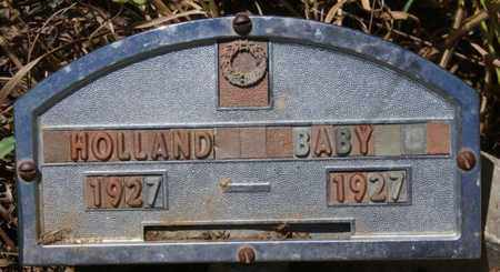 HOLLAND, BABY - Turner County, South Dakota | BABY HOLLAND - South Dakota Gravestone Photos