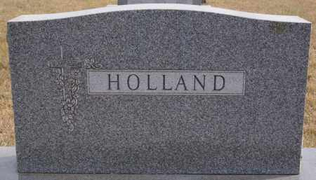 HOLLAND, FAMILY MARKER - Turner County, South Dakota | FAMILY MARKER HOLLAND - South Dakota Gravestone Photos