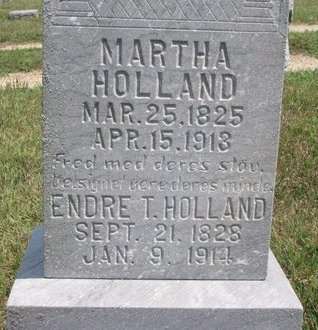 HOLLAND, ENDRE T. (CLOSE UP) - Turner County, South Dakota | ENDRE T. (CLOSE UP) HOLLAND - South Dakota Gravestone Photos