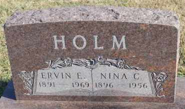 HOLM, NINA C - Turner County, South Dakota | NINA C HOLM - South Dakota Gravestone Photos