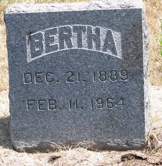 HORNBECK, BERTHA - Turner County, South Dakota | BERTHA HORNBECK - South Dakota Gravestone Photos
