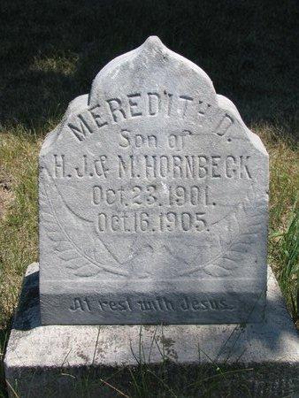 HORNBECK, MEREDITH D. - Turner County, South Dakota | MEREDITH D. HORNBECK - South Dakota Gravestone Photos