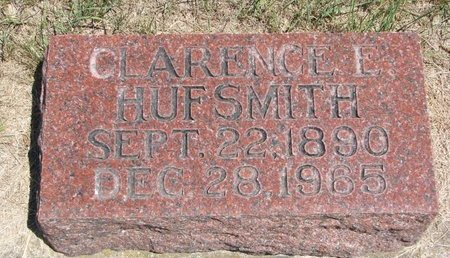 HUFSMITH, CLARENCE E. - Turner County, South Dakota | CLARENCE E. HUFSMITH - South Dakota Gravestone Photos