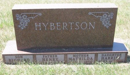 REED HYBERTSON, MATHILDA EDWINA - Turner County, South Dakota | MATHILDA EDWINA REED HYBERTSON - South Dakota Gravestone Photos