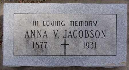 JACOBSON, ANNA V - Turner County, South Dakota | ANNA V JACOBSON - South Dakota Gravestone Photos