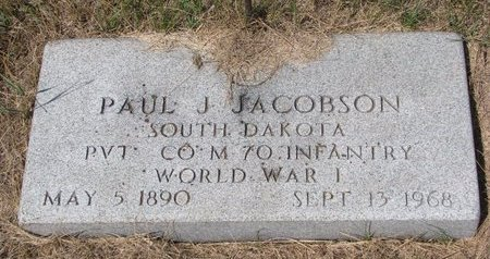 JACOBSON, PAUL J. (MILITARY) - Turner County, South Dakota | PAUL J. (MILITARY) JACOBSON - South Dakota Gravestone Photos