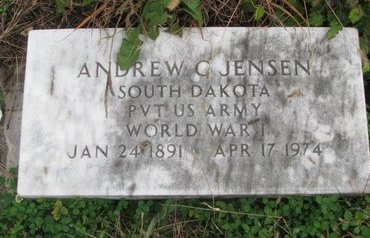 JENSEN, ANDREW C. (MILITARY) - Turner County, South Dakota | ANDREW C. (MILITARY) JENSEN - South Dakota Gravestone Photos